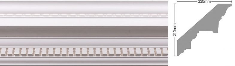 dentil with beads cornice