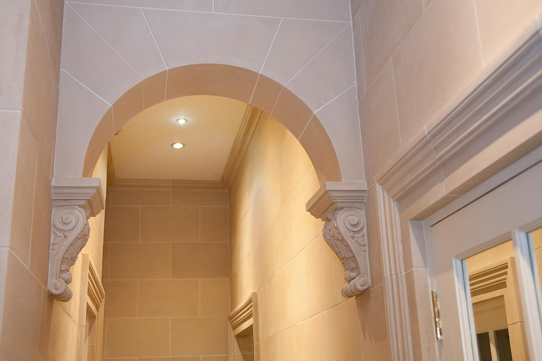 stone ach and corbels
