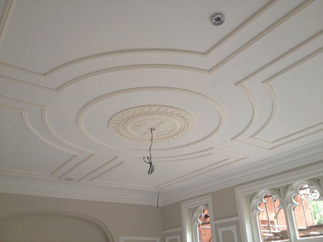 Ceiling Design Made Of Plaster Cornices Centre
