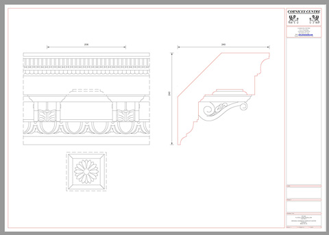 modillion cornice details cad