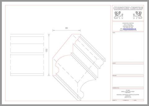 plain cornice details CAD
