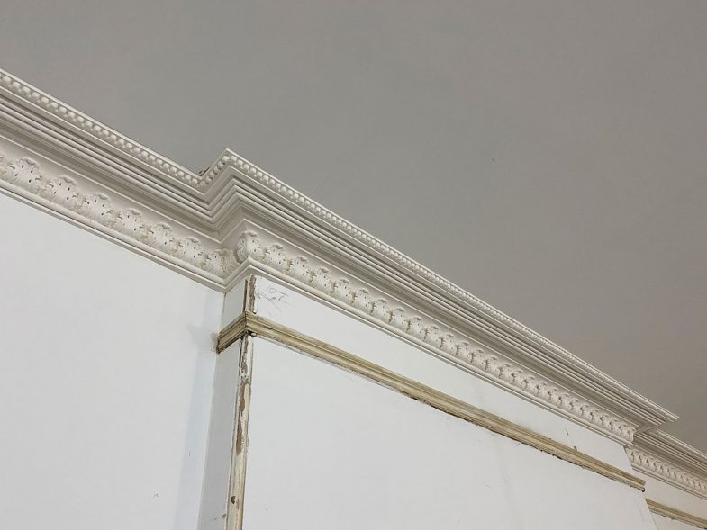cornices ready for paint