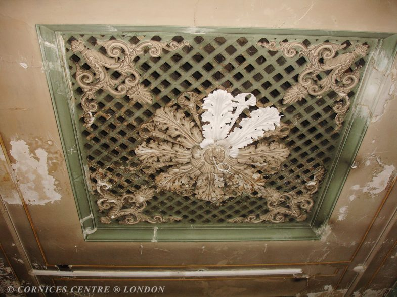 plaster ceiling before london fashion week