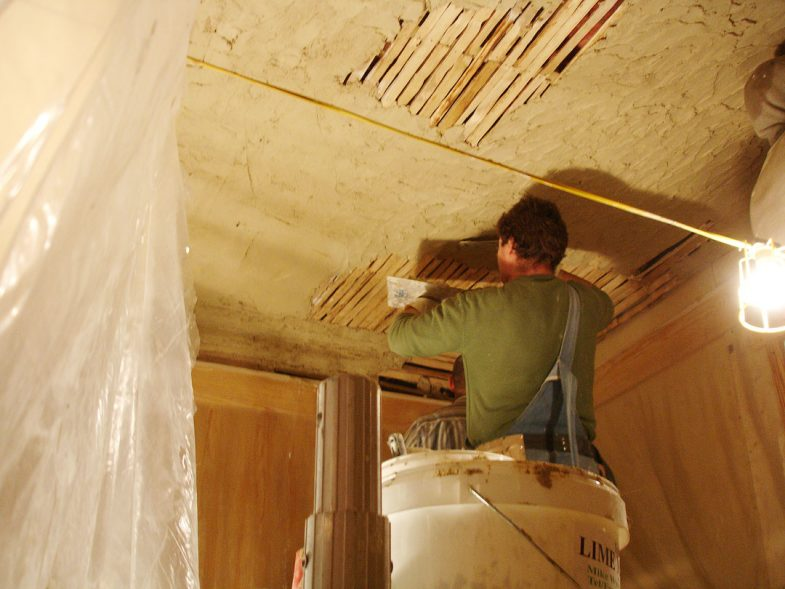 plaster ceiling with coving centre