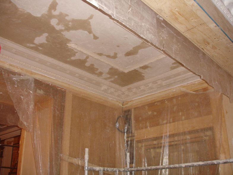 plaster ceiling and cornice
