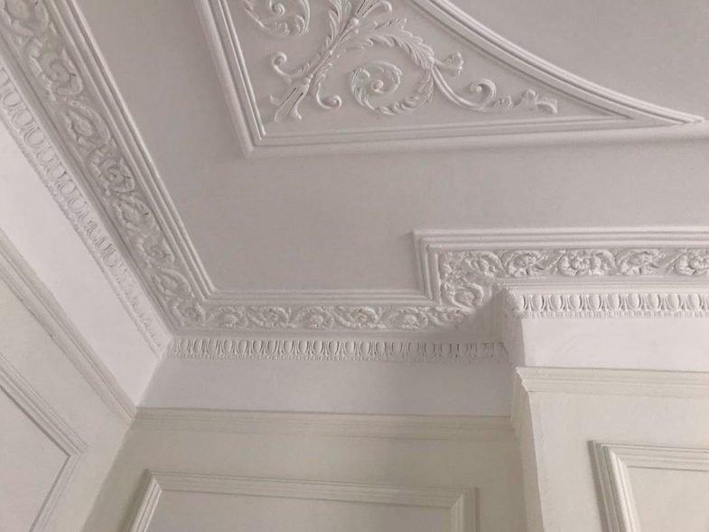 ornate plaster ceiling