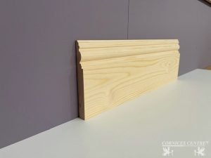 red wood skirting board